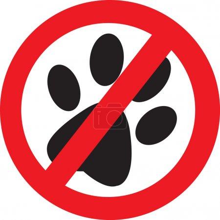 No animal trails sign