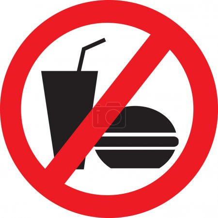 No eat and drink vector symbol