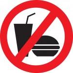 No eat and drink vector symbol...