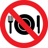 No Food Sign