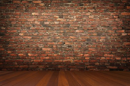 Photo for Room with brick wall - Royalty Free Image