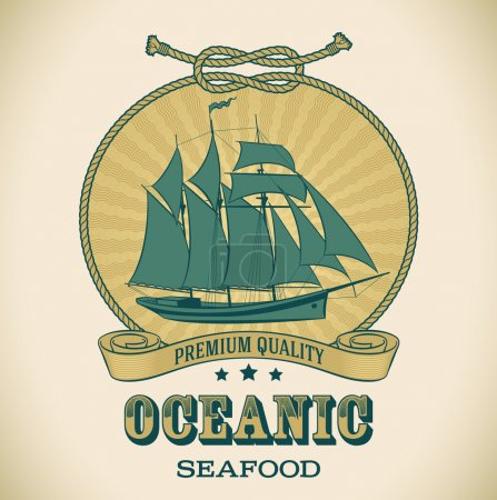 Vintage label - Oceanic