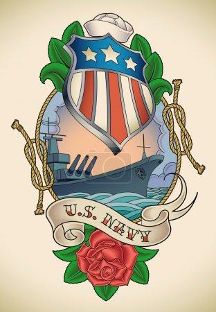 US Navy tattoo