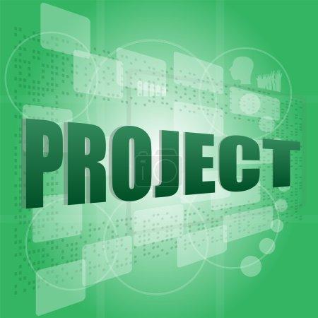 Photo pour Projet pixeled mot sur écran digital - image libre de droit
