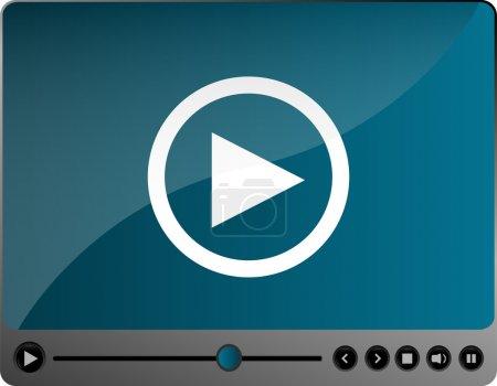 Photo pour Lecteur multimédia vidéo film - image libre de droit