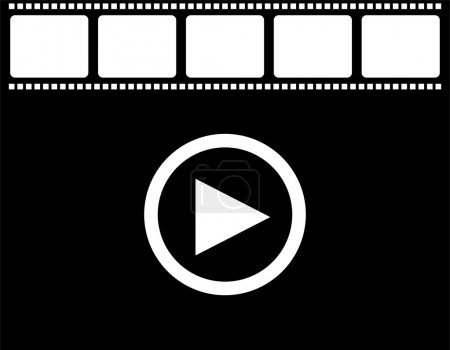 film strip and play icon