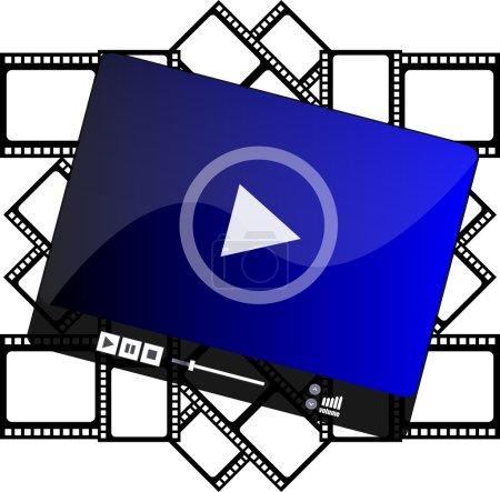 Photo pour Lecteur multimédia sur bandes de film de cinéma - image libre de droit