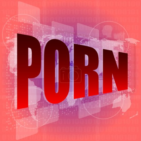 word on digital screen