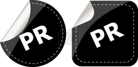 Photo pour Autocollants noir pr ensemble, bouton icône - image libre de droit