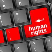 Lidská práva tlačítko na klávesy pc klávesnice počítače