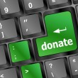 Donate button on computer keyboard pc key...