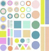 Set of scrapbook design elements - frames buttons