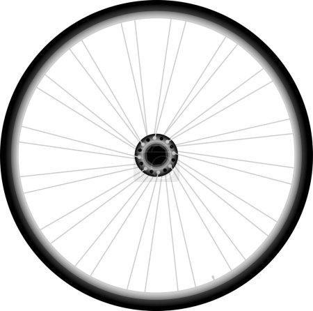 Ilustración de Rueda de la bici - ilustración vectorial sobre fondo blanco - Imagen libre de derechos