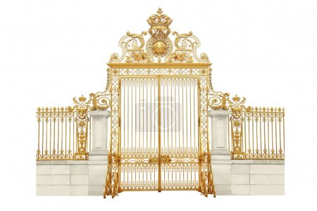 Photo for Isolated golden gates to Versailles castle - Royalty Free Image