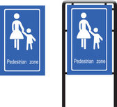 Sign for pedestrian zone