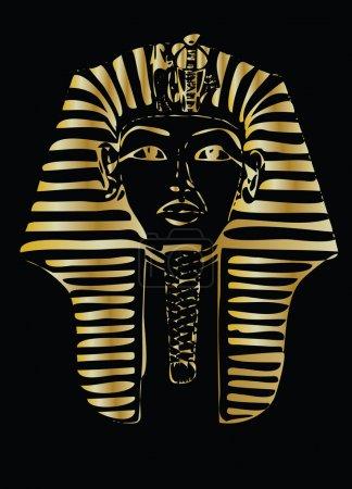 Golden pharaoh color vector illustration...