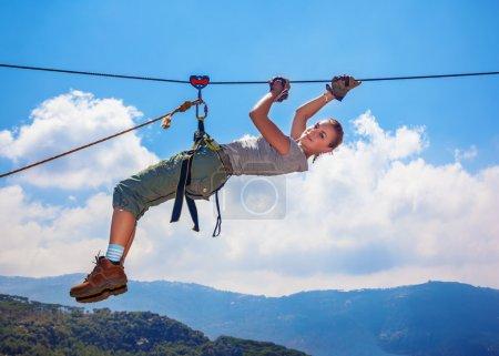 Woman mountaineer