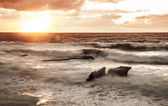 coucher de soleil sur la mer