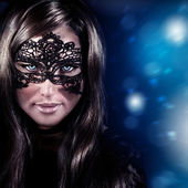 Woman on masquerade