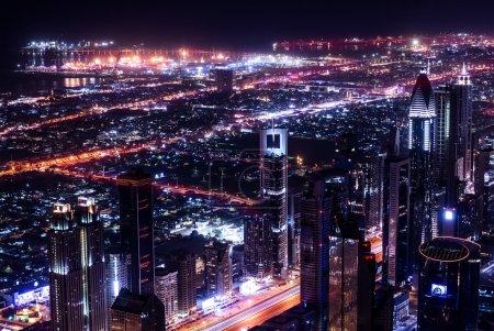 Dubai city at night