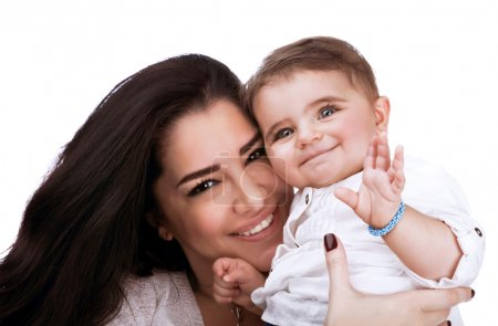 Pretty woman with daughter