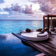 Luxury beach resort, bungalow near endless pool ov...