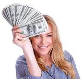 Winning money concept