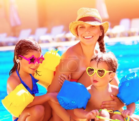 Happy family in summer vacation