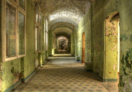 Corridor in the sanatorium in Beelitz