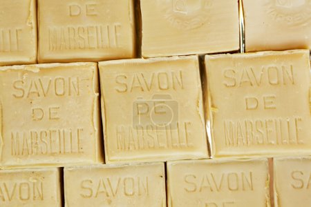 Savon de Marseille soap in the form of a cube