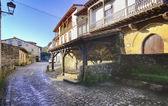 Streets typical of old world heritage village of Santillana del