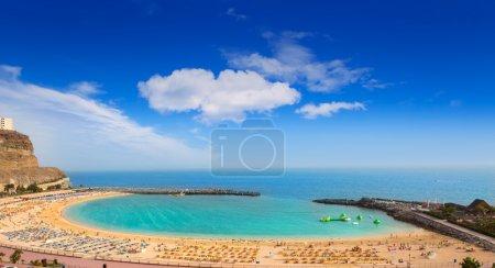 Amadores aqua beach in Gran Canaria at Canary Isla...