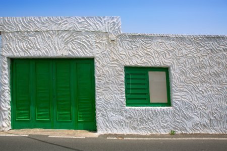 Lanzarote Punta Mujeres white house in Canaries