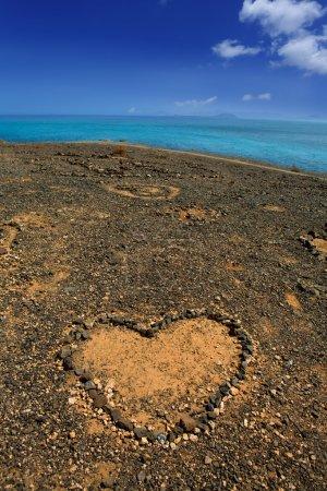 Lanzarote Papagayo and stones heart