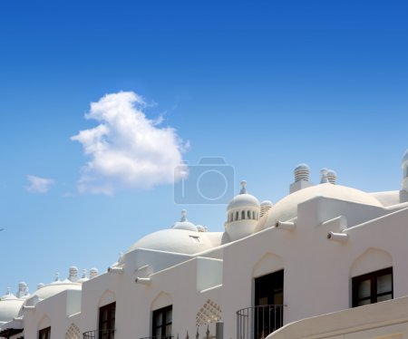 Adeje Costa coast Paraiso in Tenerife white houses