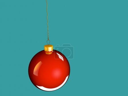 Christmas bauble ball in golden red