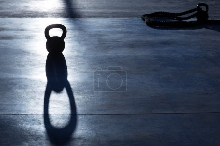 Crossfit Kettlebell weight backlight and shadow