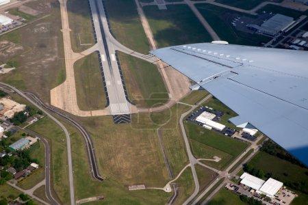 Aéroport lannding route vue vue aérienne