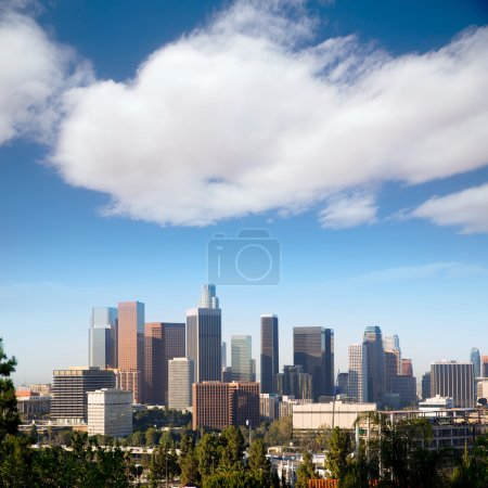 Photo for Downtown LA Los Angeles skyline cityscape California - Royalty Free Image