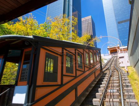 Los Angeles Angels flight funicular in downtown