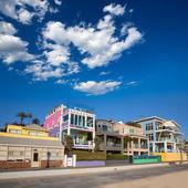 Santa Monica California beach colorful houses