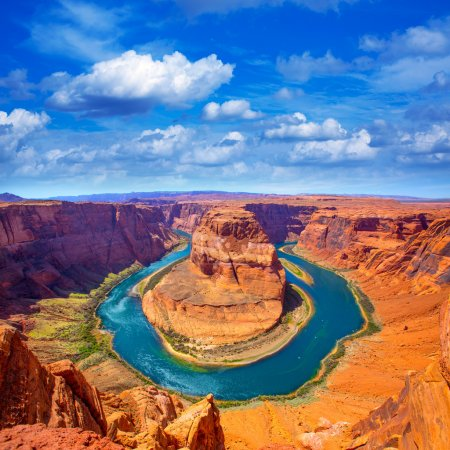 Arizona Horseshoe Bend meander of Colorado River
