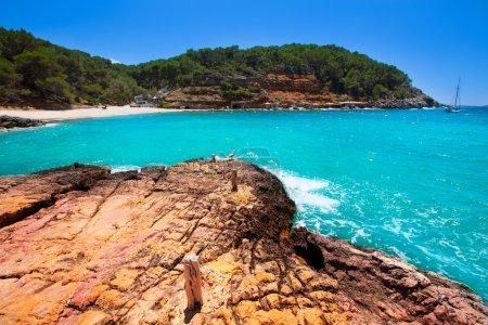 Ibiza cala Salada in san antonio Abad at Balearic