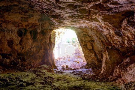 Photo pour Menorca Cova dels Coloms Caverne de pigeons à es Mitjorn sur l'île des Baléares - image libre de droit