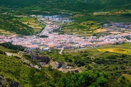 Menorca es Mercadal aerial view from Pico del Toro