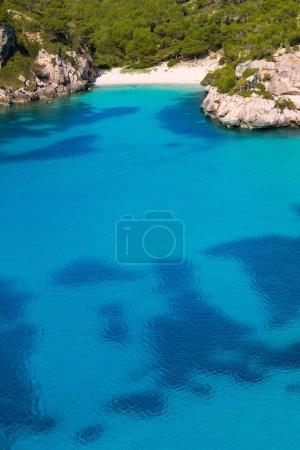 Cala Macarelleta in Menorca at Balearic Islands