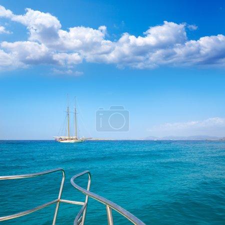 Illetes Illetas Formentera yacht sailboat anchored