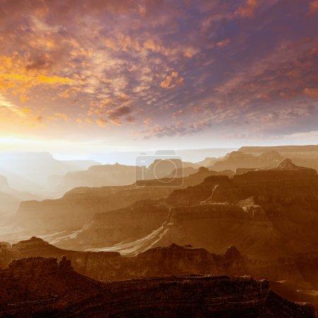 Photo for Arizona sunset Grand Canyon National Park Yavapai Point USA - Royalty Free Image