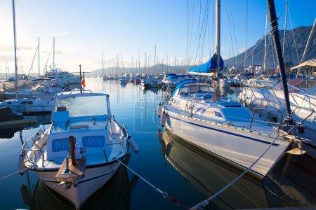 Denia marina boats in alicante Valencia Province Spain