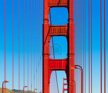 Golden Gate Bridge Details in San Francisco Kalifornien